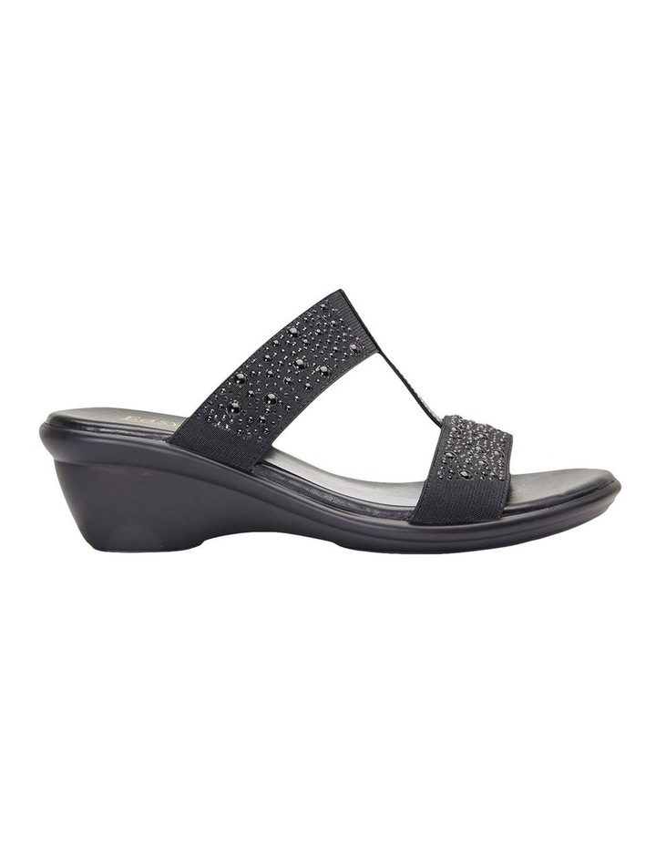 Heather Black Elastic/Patent Sandal image 1