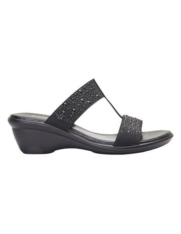 ad04cc910baaf Easy StepsHeather Black Elastic Patent Sandal. Easy Steps Heather Black  Elastic Patent Sandal