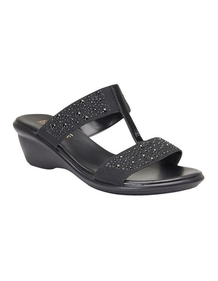 Heather Black Elastic/Patent Sandal image 3