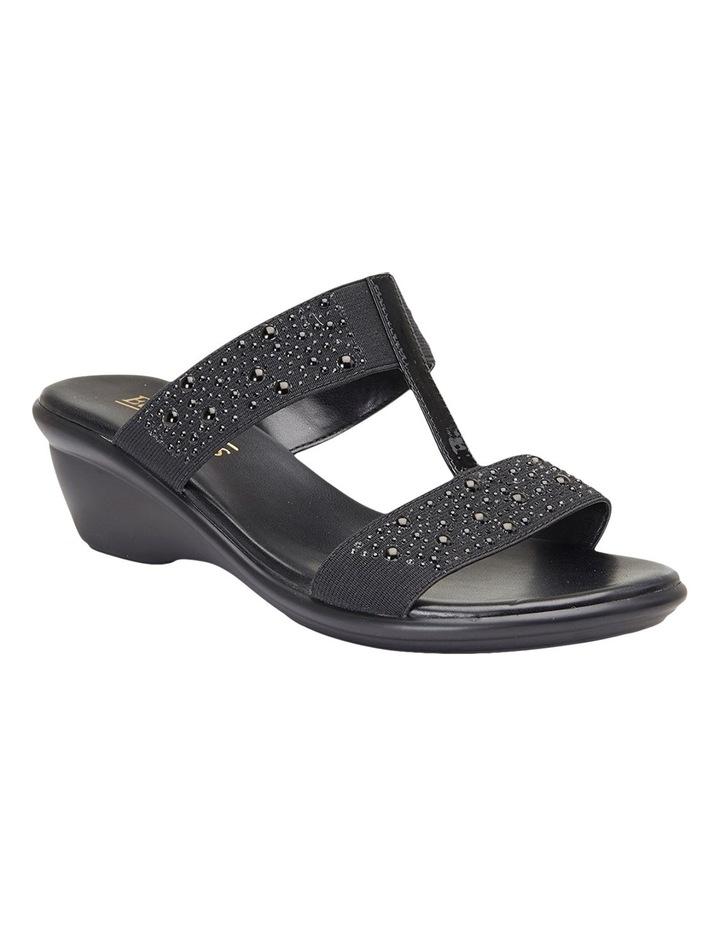Heather Black Elastic/Patent Sandal image 4