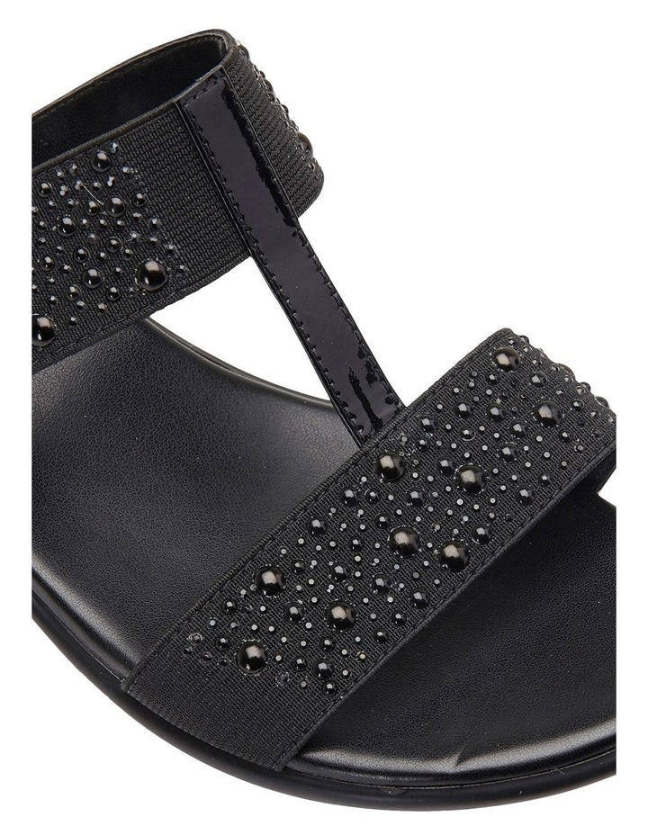 Heather Black Elastic/Patent Sandal image 7