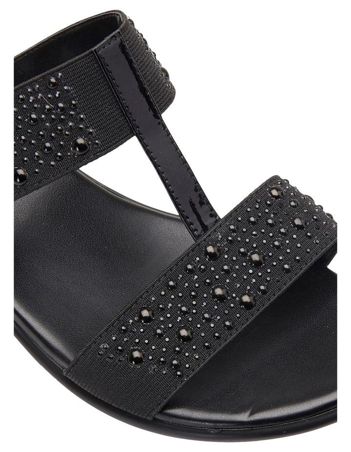Heather Black Elastic/Patent Sandal image 8
