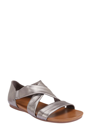 Easy Steps - Abel Pewter Metallic Sandal