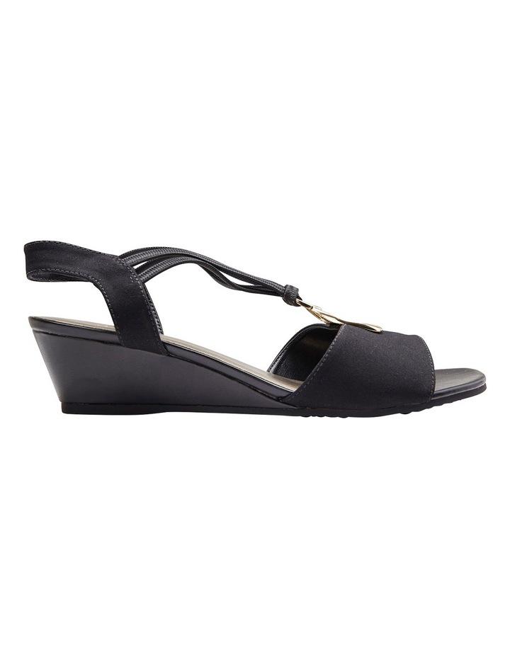 Cynthia Black Fabric Sandal image 1