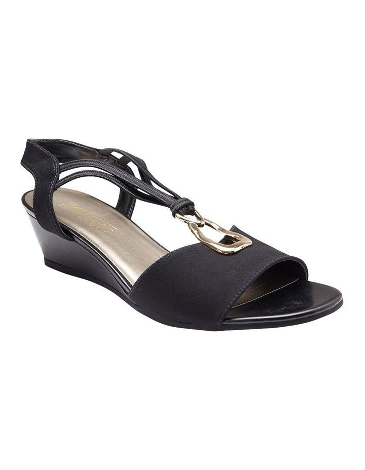 Cynthia Black Fabric Sandal image 4