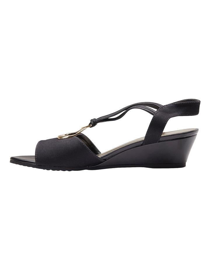Cynthia Black Fabric Sandal image 5