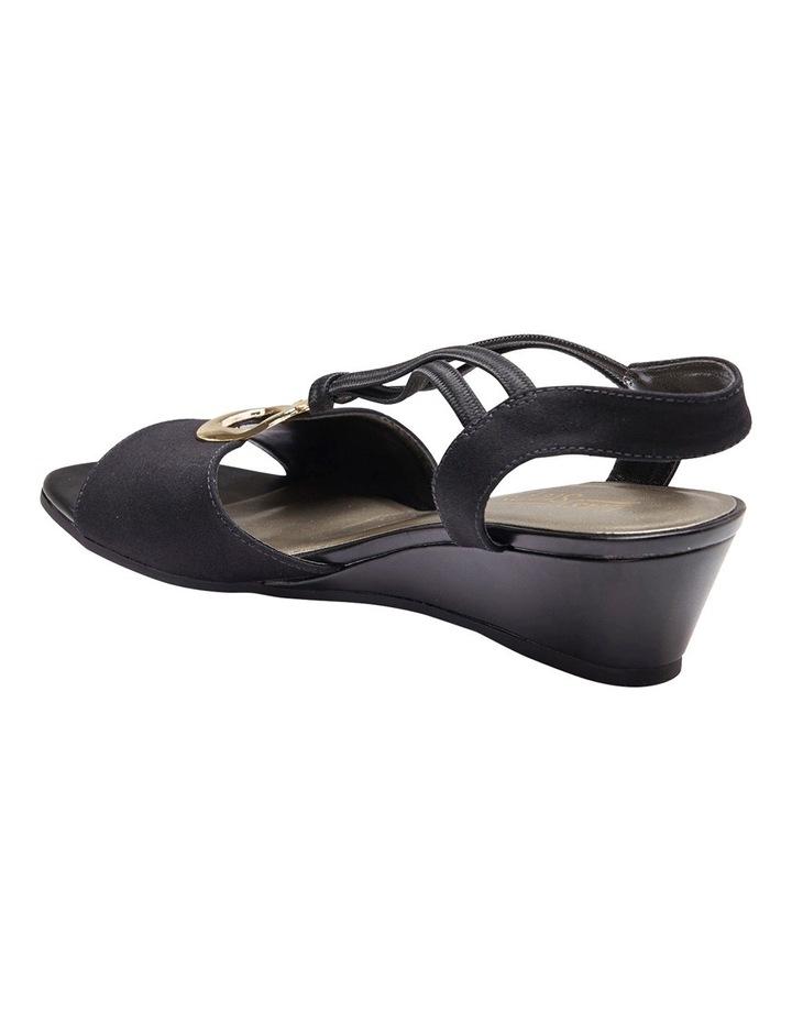 Cynthia Black Fabric Sandal image 8