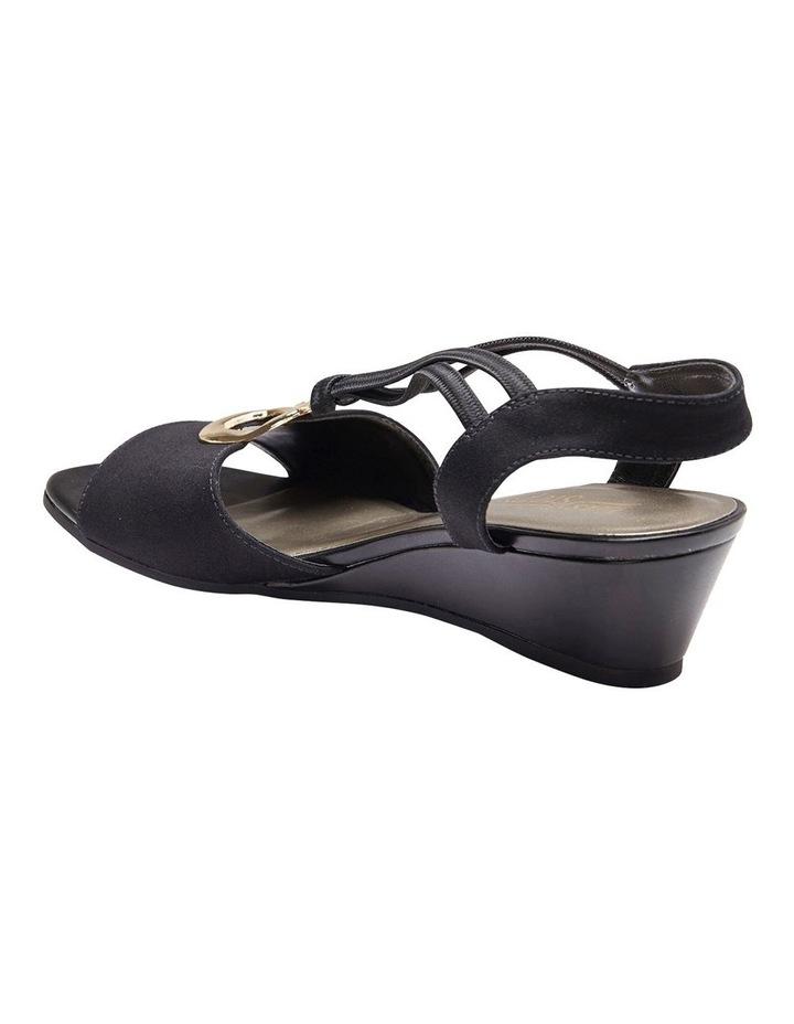 Cynthia Black Fabric Sandal image 7