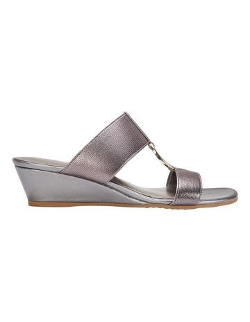 58fbc9985c91 Easy Steps Claire Pewter Elastic Sandal