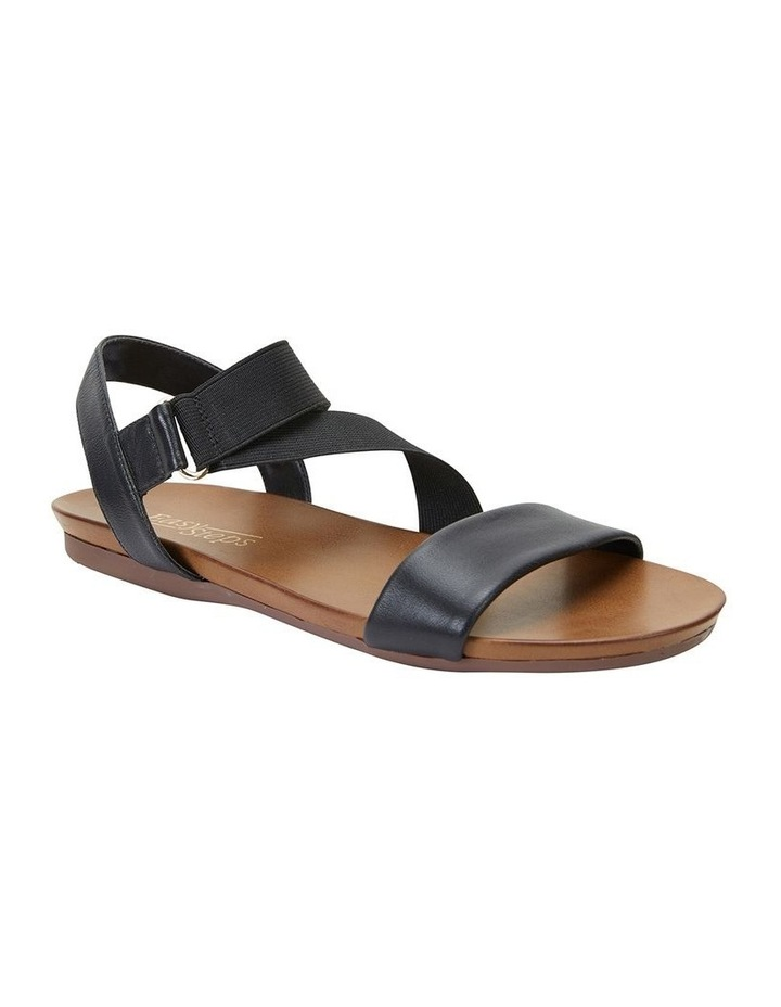 Amity Black Glove/Elastic Sandal image 2