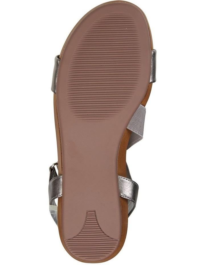 Amity Pewter Metallic Elastic Sandal image 6