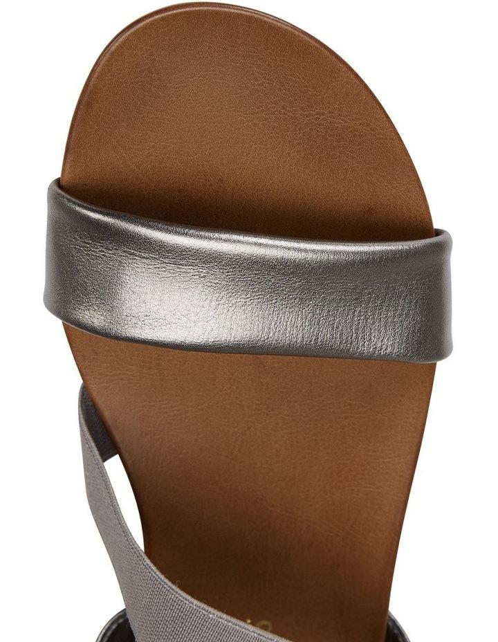 Amity Pewter Metallic Elastic Sandal image 7