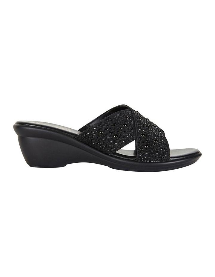 Honey Black Elastic Sandal image 1