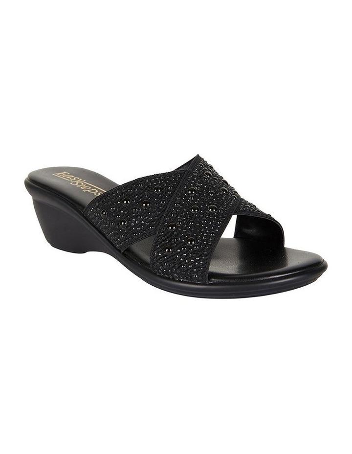 Honey Black Elastic Sandal image 2