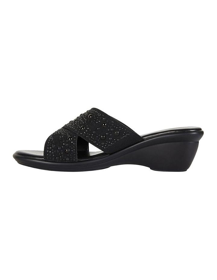 Honey Black Elastic Sandal image 3
