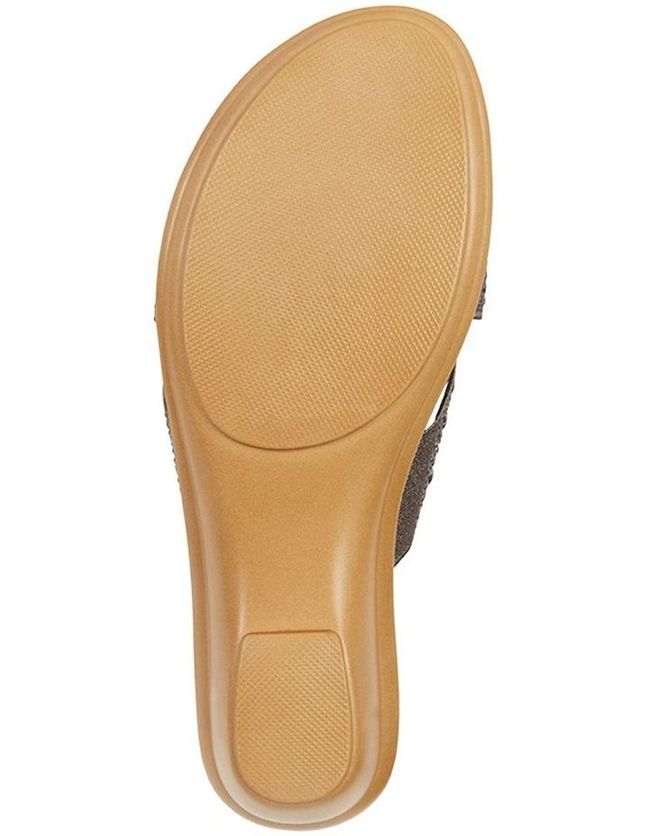 Honey Pewter Elastic Sandal image 7