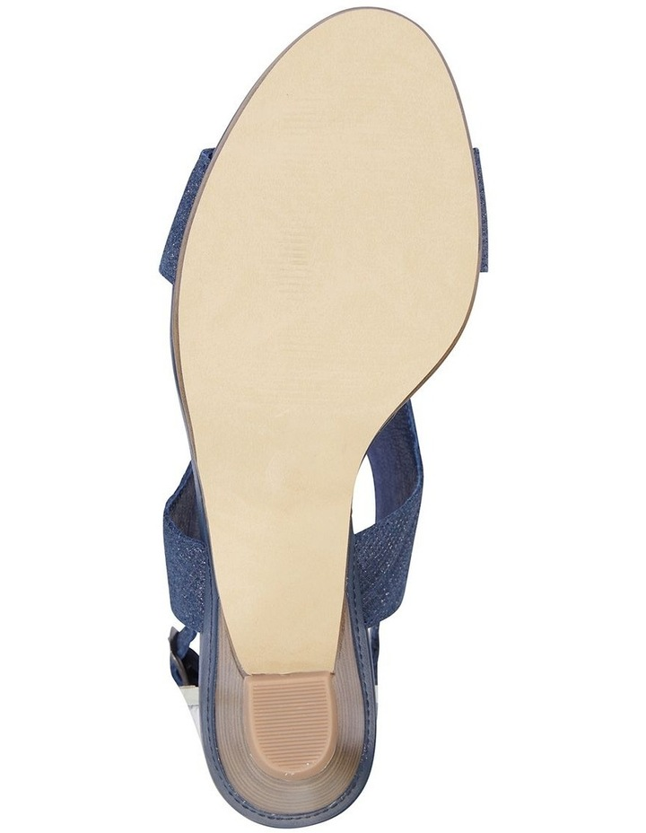 Margo Navy Print Nubuck Sandal image 6