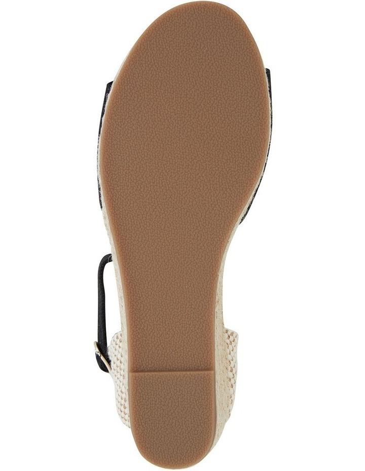 Safari Black Fabric Sandal image 6