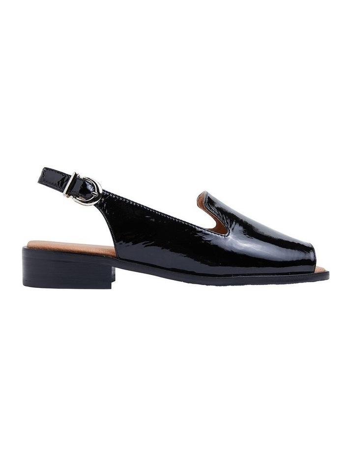 Delaney Black Crinkle Patent Sandal image 1