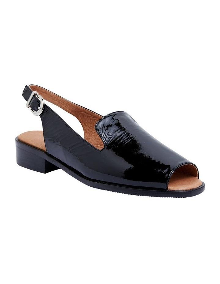 Delaney Black Crinkle Patent Sandal image 2