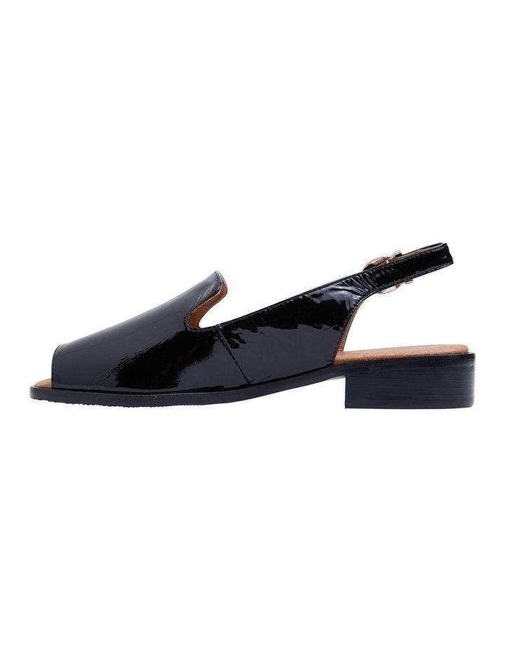Delaney Black Crinkle Patent Sandal image 3
