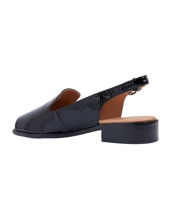 Delaney Black Crinkle Patent Sandal image 4