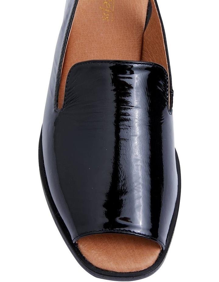 Delaney Black Crinkle Patent Sandal image 5