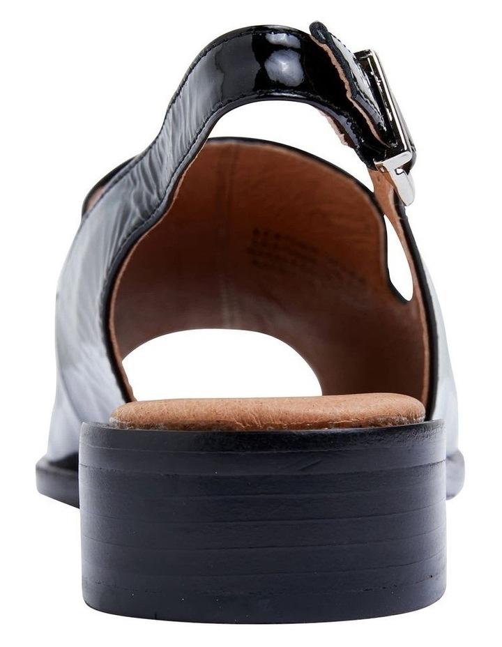 Delaney Black Crinkle Patent Sandal image 6