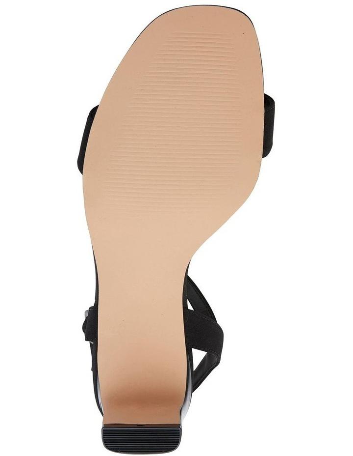 Unison Black Fabric Sandal image 7