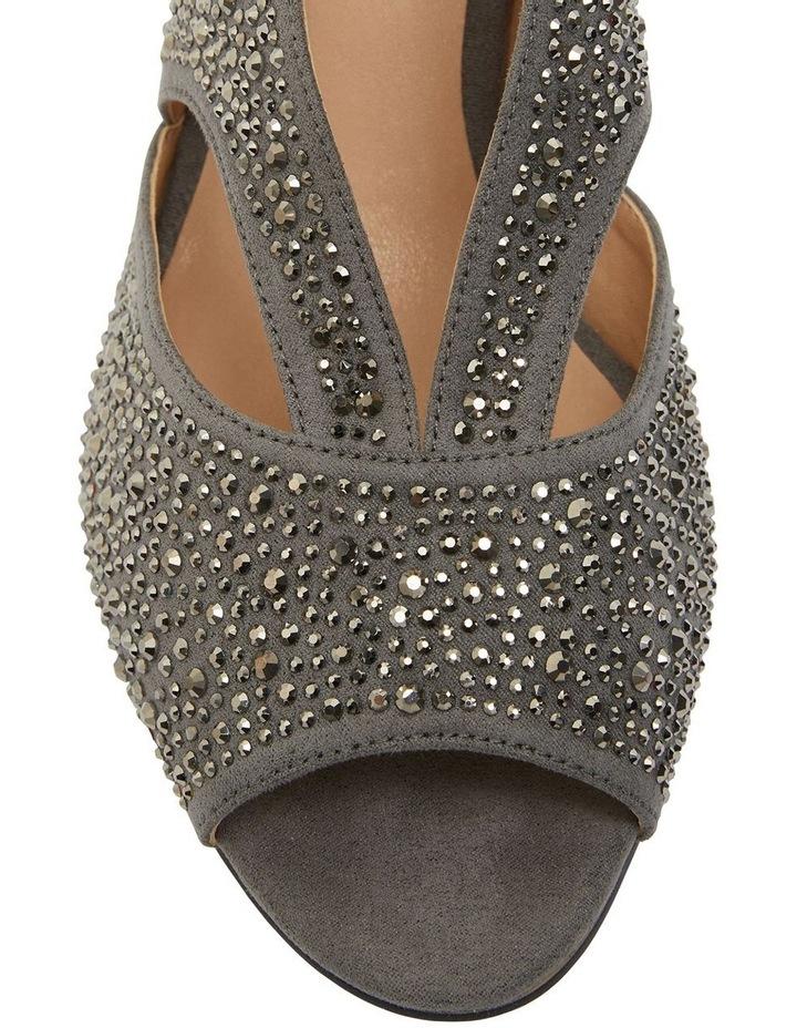 Angie Grey Fabric Sandal image 7