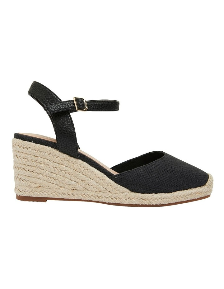 Santos Black Fabric Wedge Sandal image 1