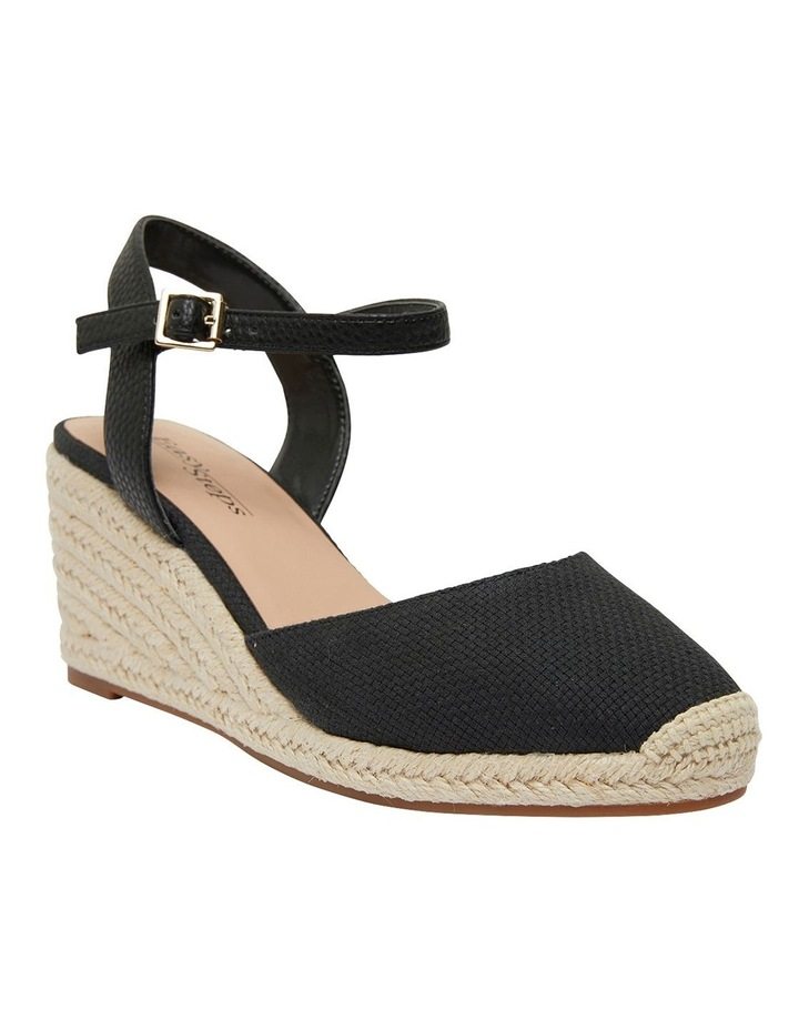 Santos Black Fabric Wedge Sandal image 2
