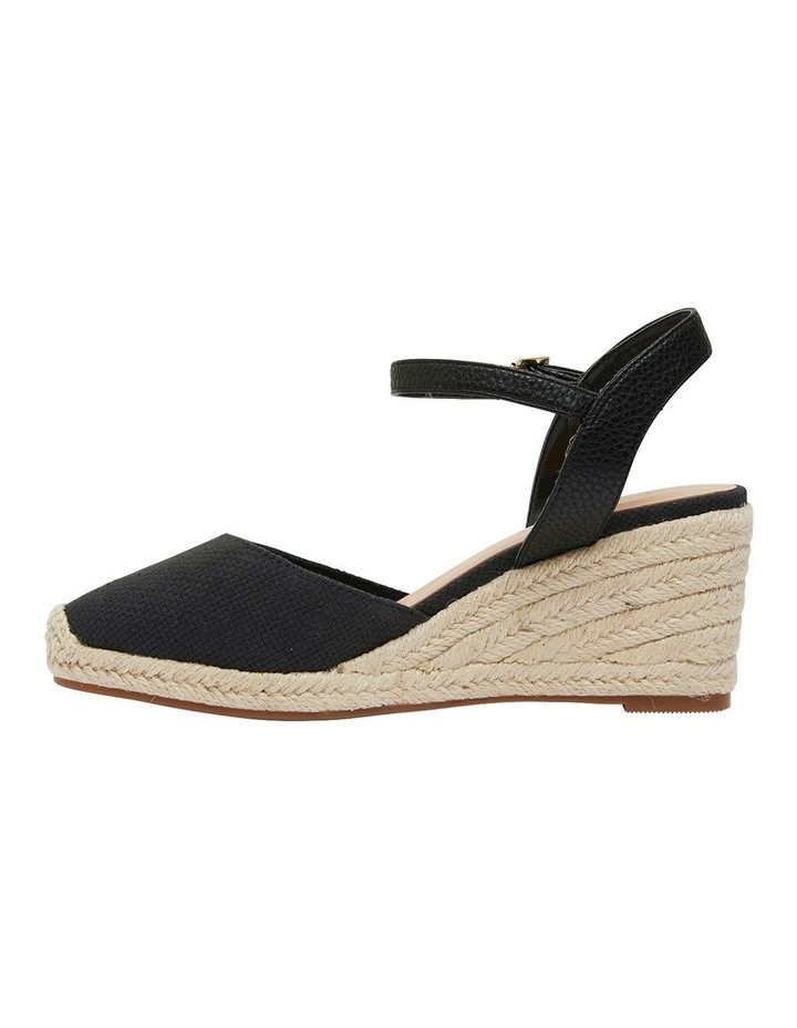 Santos Black Fabric Wedge Sandal image 3
