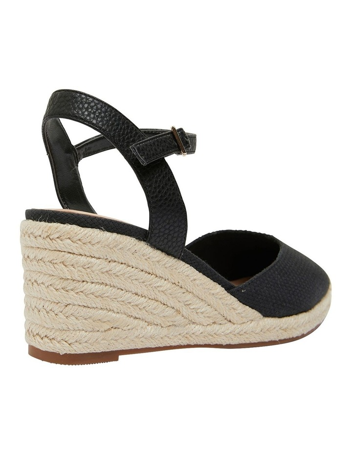 Santos Black Fabric Wedge Sandal image 4