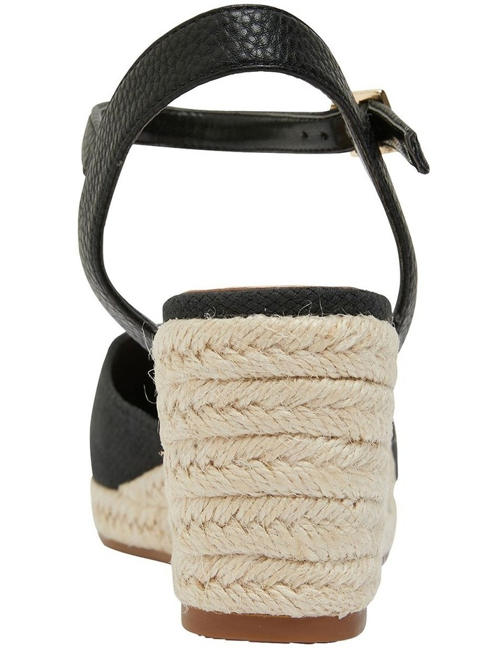 Santos Black Fabric Wedge Sandal image 5