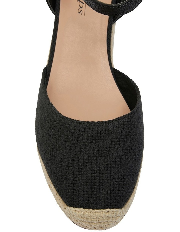 Santos Black Fabric Wedge Sandal image 6