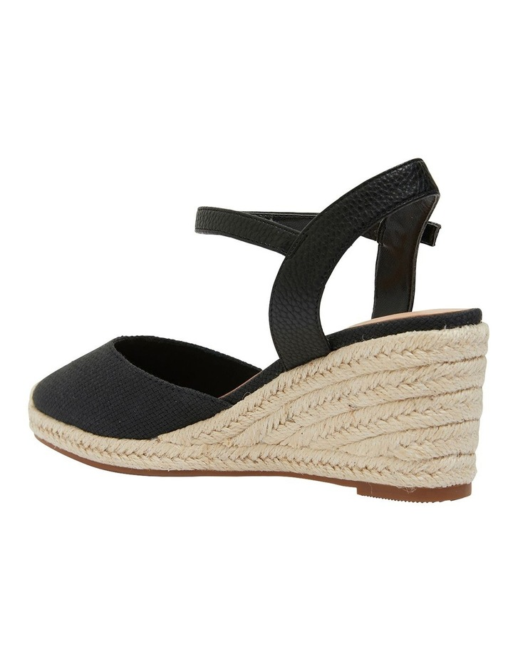 Santos Black Fabric Wedge Sandal image 7