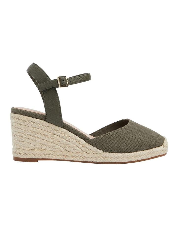 Santos Khaki Fabric Wedge Sandals image 1