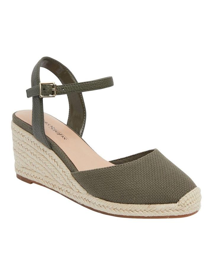 Santos Khaki Fabric Wedge Sandals image 2