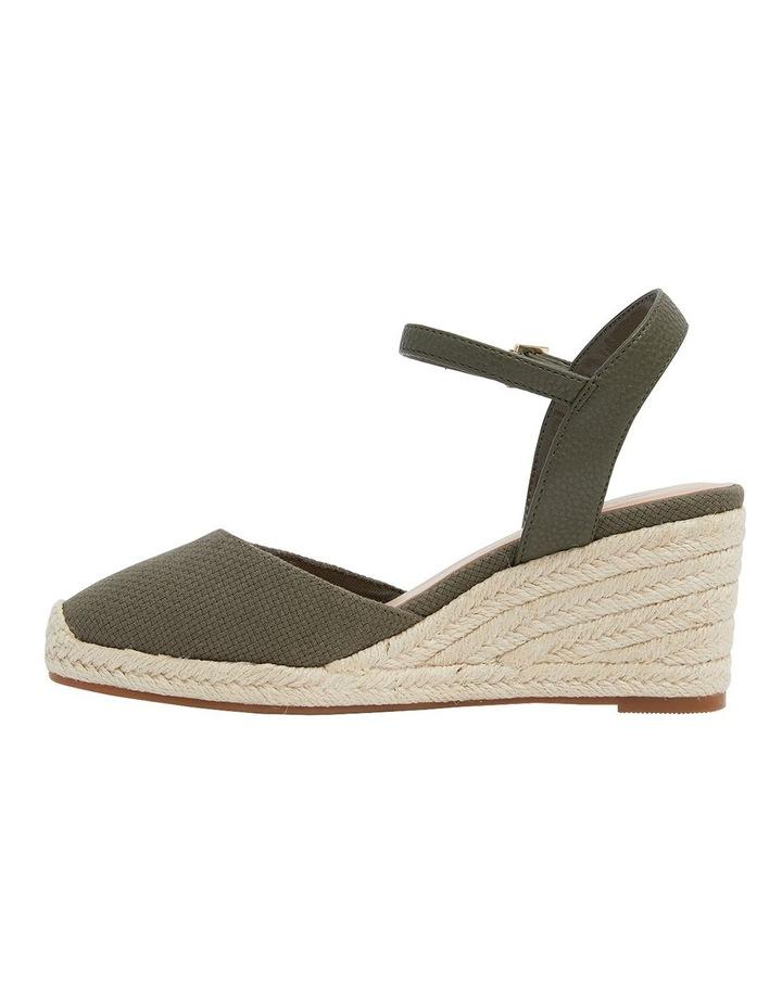 Santos Khaki Fabric Wedge Sandals image 3