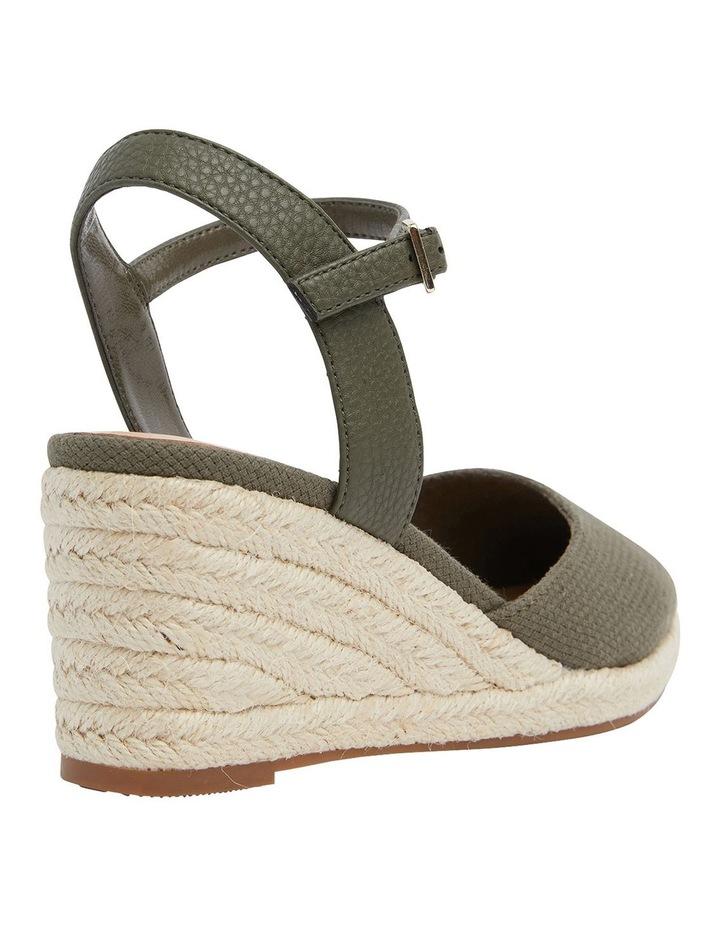 Santos Khaki Fabric Wedge Sandals image 4