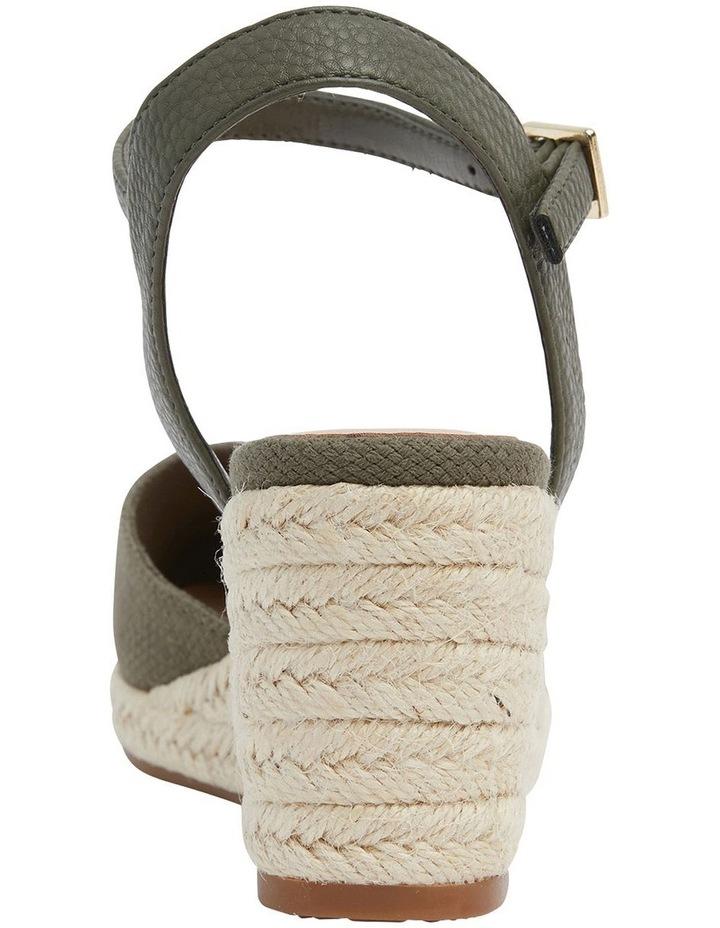Santos Khaki Fabric Wedge Sandals image 5