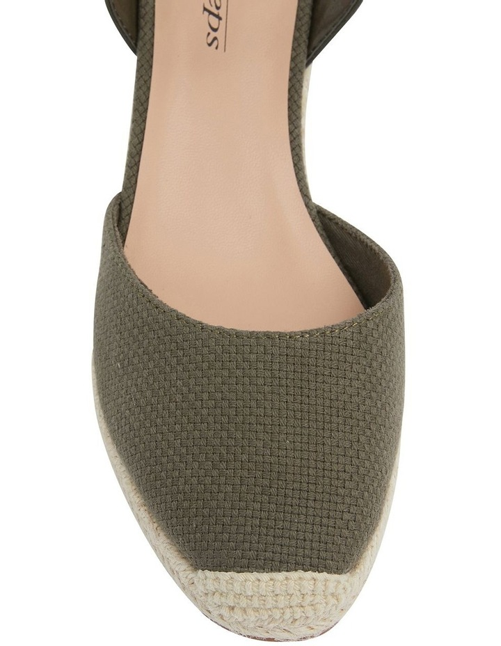 Santos Khaki Fabric Wedge Sandals image 6