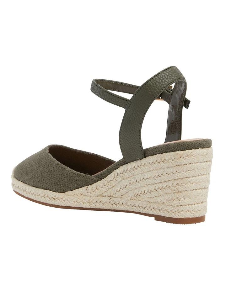 Santos Khaki Fabric Wedge Sandals image 7
