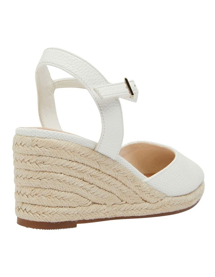 Santos White Fabric Wedge Sandals image 4