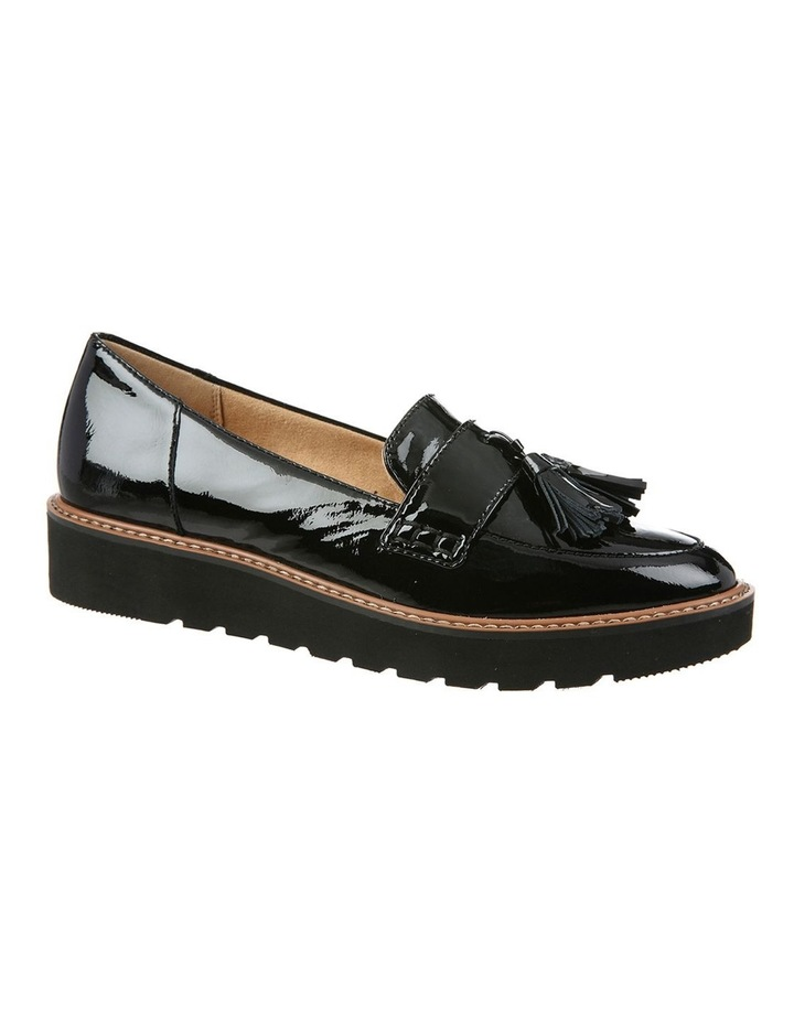 August Black Patent Flat Shoes image 1