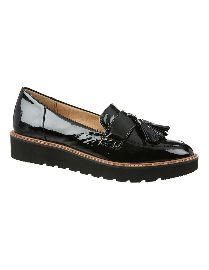 August Black Patent Flat Shoes image 2