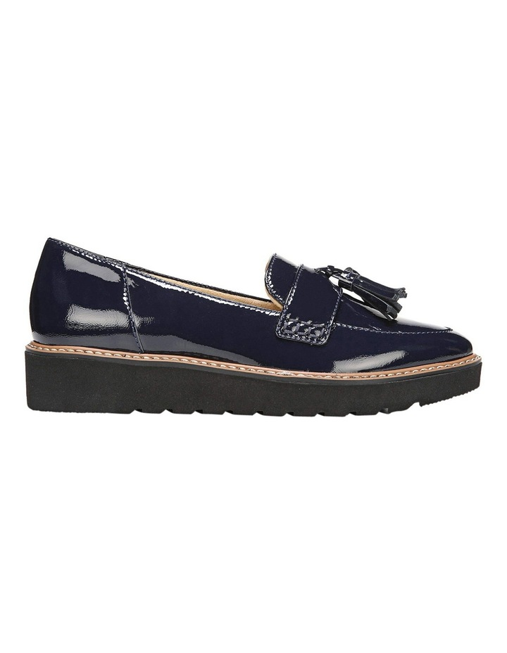 22296602df3 August Navy Patent Flat Shoes image 1