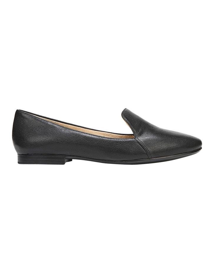 Emiline Black Leather Flat Shoe image 1