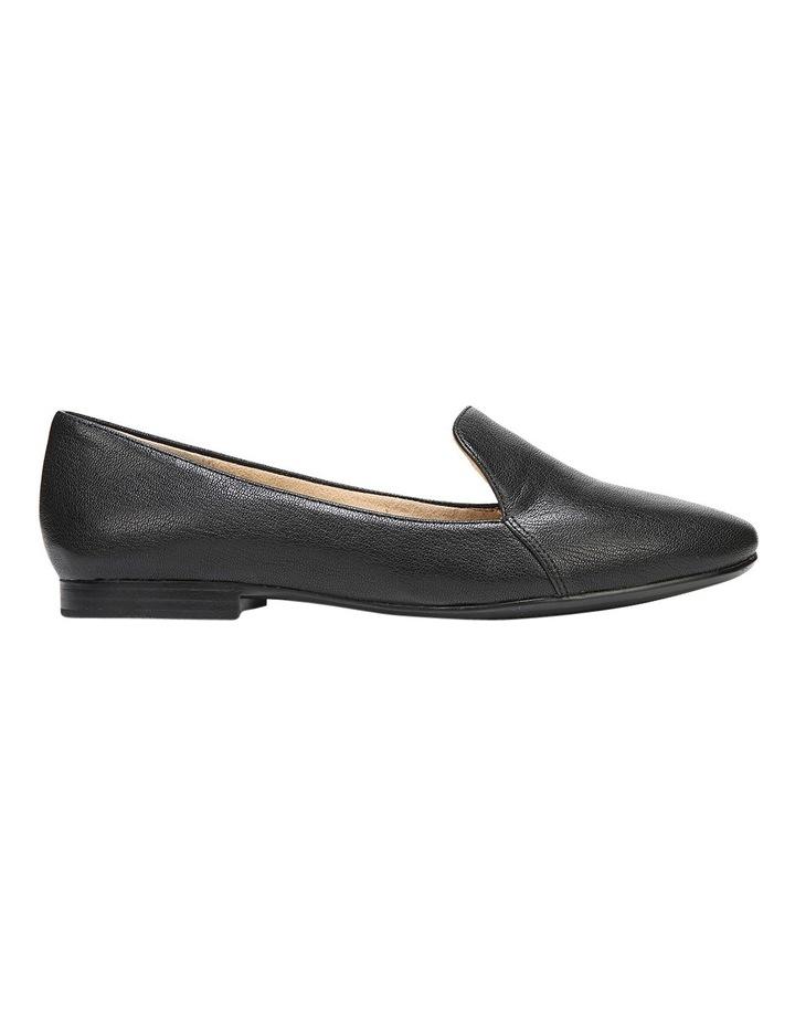Emiline Black Leather Flat Shoe image 2